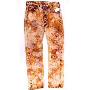 LEVI'S Vintage Tie-Dyed Straight Leg 501 Jeans